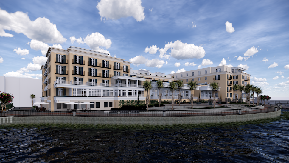Plans Approved for a 225-room Waterfront Hotel in Downtown Charleston